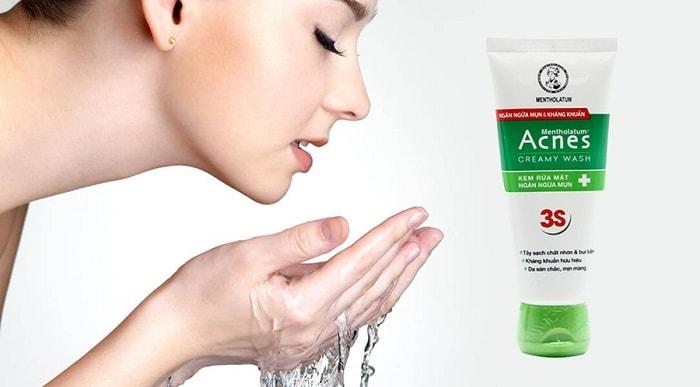 Sữa rửa mặt trị mụn Rohto Acnes (da dầu/hỗn hợp)